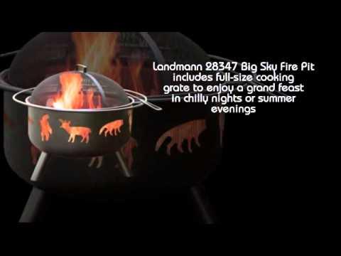 Landmann 28347 Sky Fire Pit Wildlife Black Avi