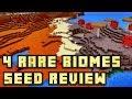 Minecraft PE - Mushroom, Mesa, Desert, Jungle Biome Seed!