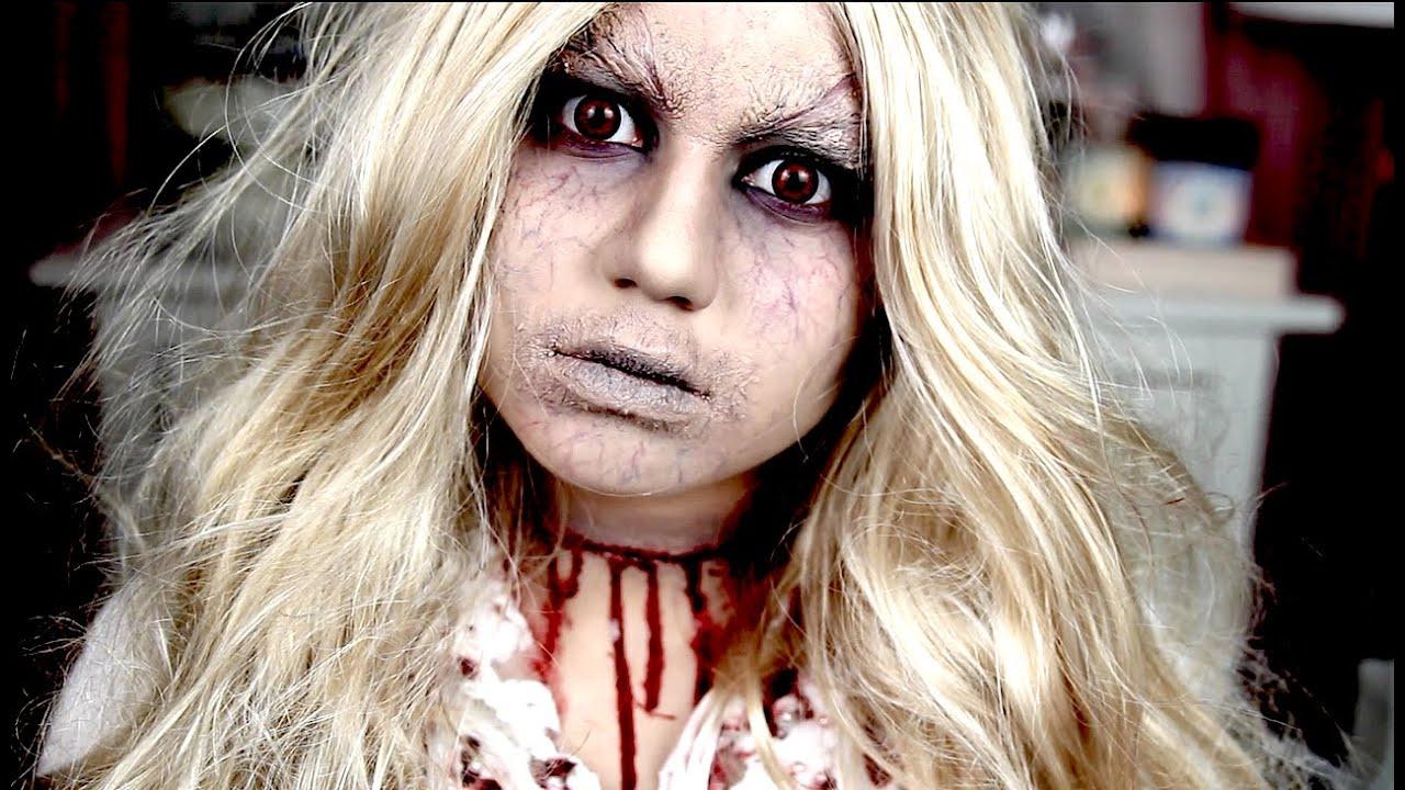 Dead School Girl - Halloween Tutorial - YouTube