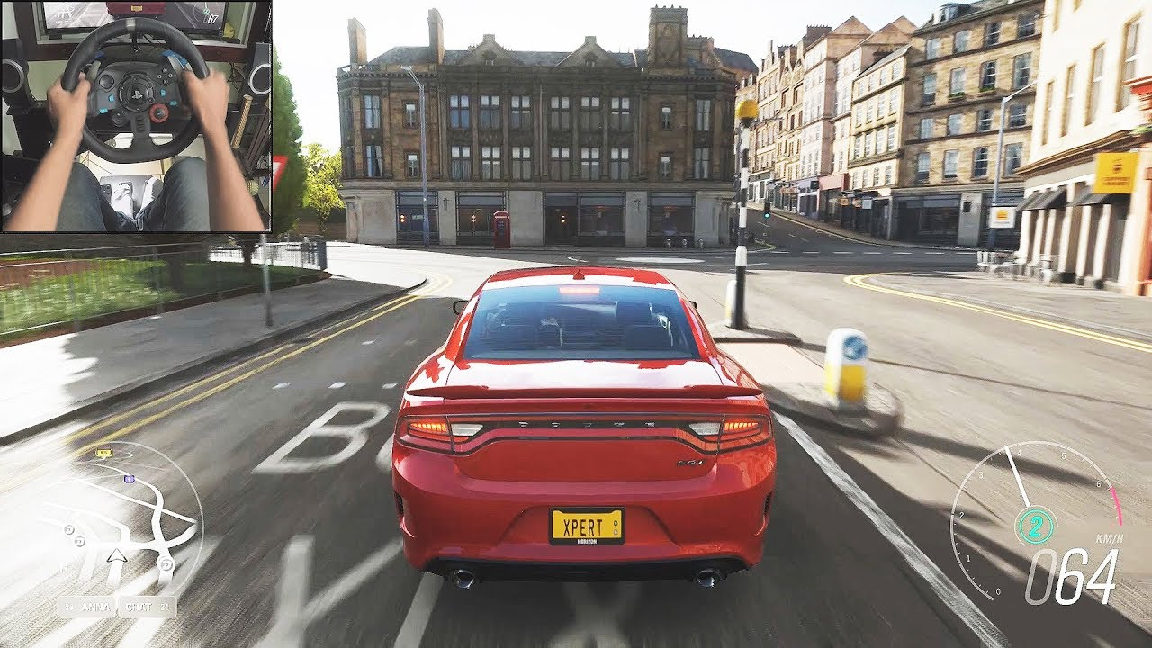 dodge charger video game Dodge Charger SRT Hellcat - Forza Horizon 2  Logitech g2 gameplay