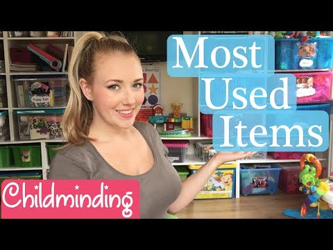 OUR MOST USED ITEMS FOR CHILDMINDING IN HOME CHILD CARE