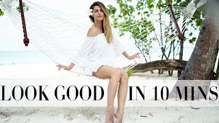 how i look good in 10 minutes   make up fashion hair routine   lydia elise millen   ad