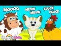 Animal Sounds Song + More Nursery Rhymes & Kids Songs - HooplaKidz