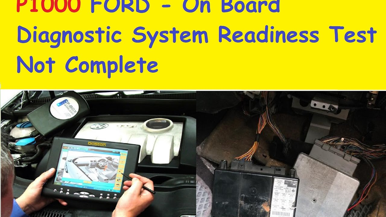 Ford Focus Fuse Diagram P1000 Ford On Board Diagnostic System Readiness Test Not