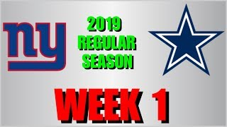 ☆**LIVE STREAM** Gamecast ☆ 2019 WEEK 1: New York Giants @ Dallas Cowboys [WE ARE AT THIS GAME LIVE]