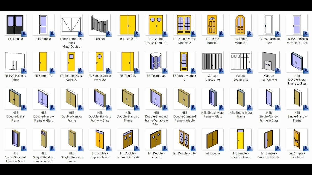 Revit 2013 Aula 19: Modificando famílias de portas   #C3A508 1583 778