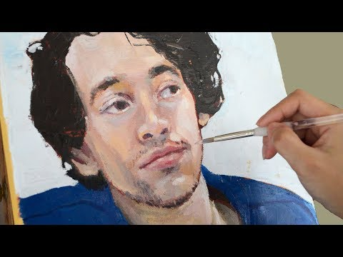 Oil Portrait Painting Time-lapse