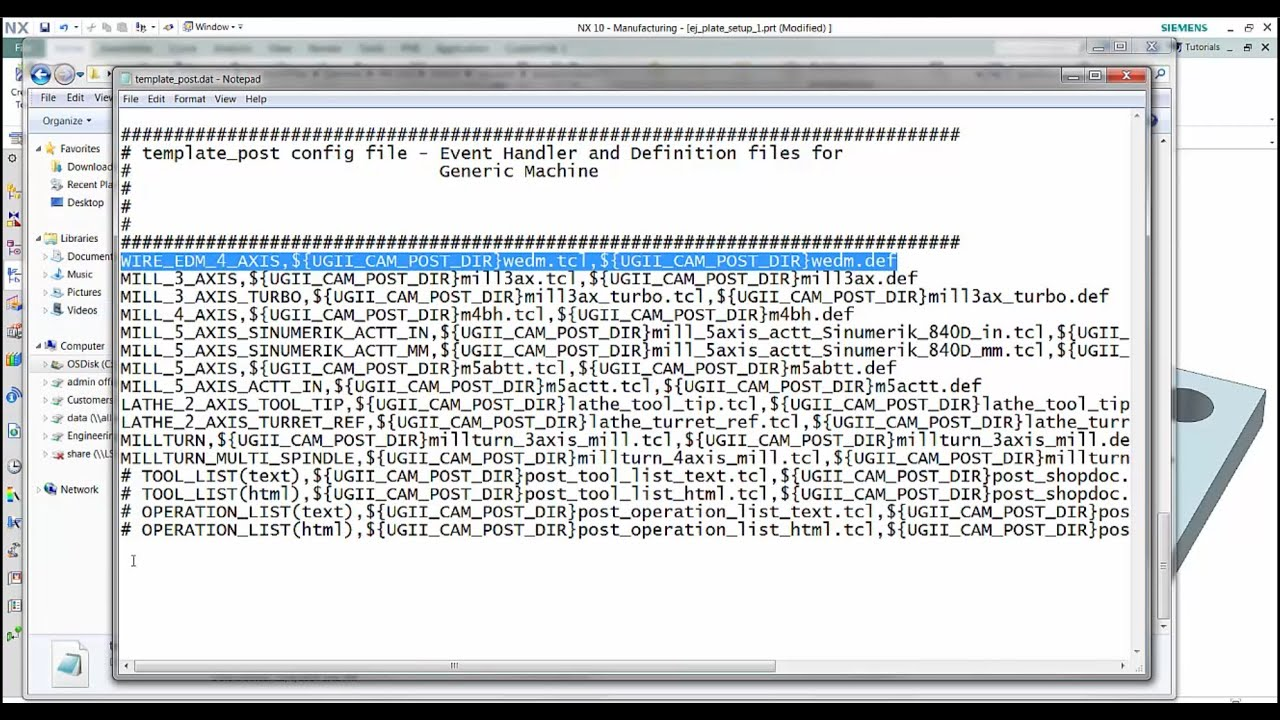 Editing the Post Processor List - NX CAM - PROLIM PLM Tip of the Week