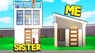 SISTER Vs BROTHER 3X3 BLOXBURG HOUSE CHALLENGE!! (Roblox)