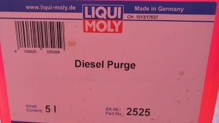 Liqui Moly Diesel Purge. The Best Injector Cleaner I