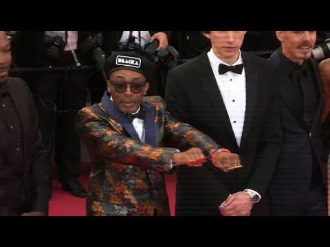 """Team of Spike Lee's """"Blackkklansman"""" on Cannes red carpet"""