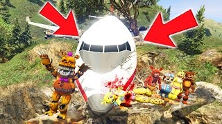 ANIMATRONICS SURVIVE A PLANE CRASH! (GTA 5 Mods For Kids FNAF Funny Moments)