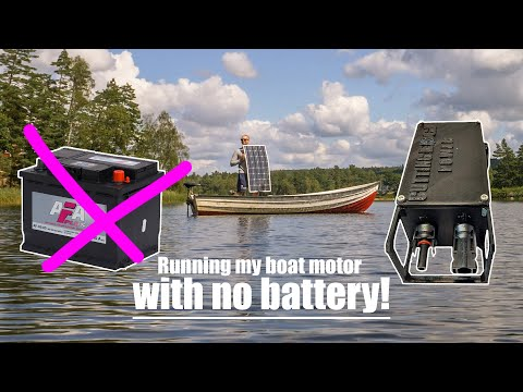 Running my boat motor with no battery!