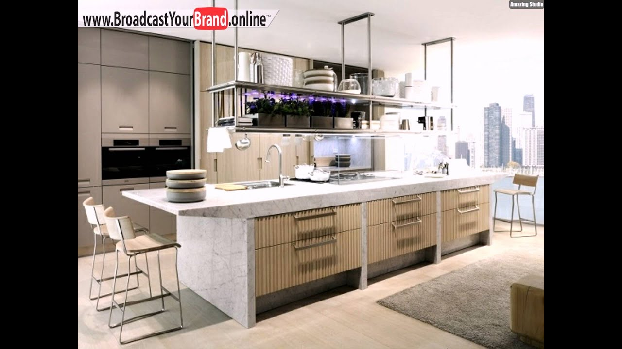 moderne designer k chen holz m bel kochinsel pflanzen youtube. Black Bedroom Furniture Sets. Home Design Ideas
