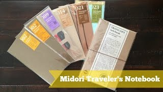 Midori Traveler's Notebook(Hi everyone! In this video I'm showing you the Midori Traveler's Notebook I purchased in Japan a few weeks ago! I got the brown leather Traveler's Notebook, ..., 2016-04-26T15:00:06.000Z)