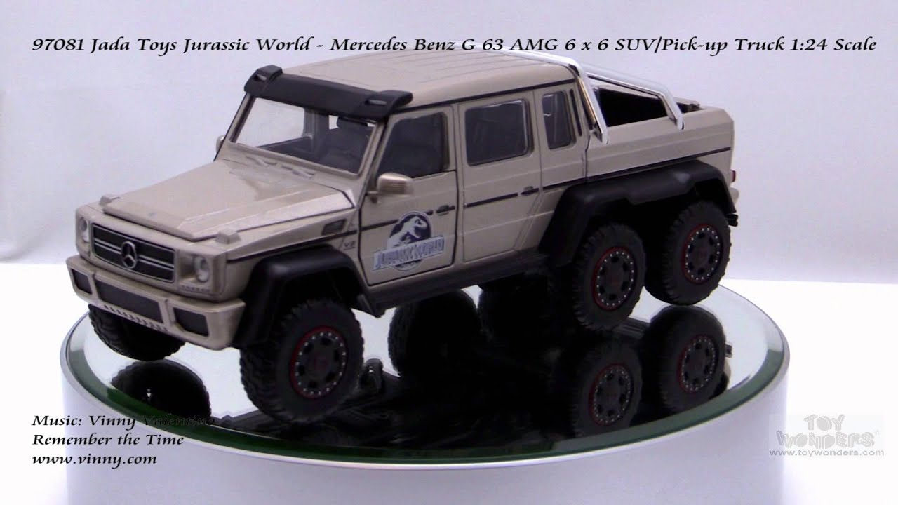 97081 jada toys jurassic world mercedes benz g 63 amg 6 x for Mercedes benz truck toys