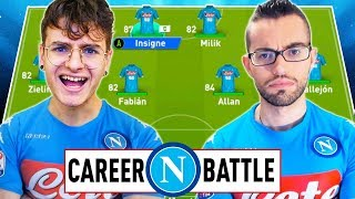 ⚔️ 1 VS 1 CAREER BATTLE CHALLENGE ZW VS GIUSE360 con il NAPOLI! FIFA19⚽️