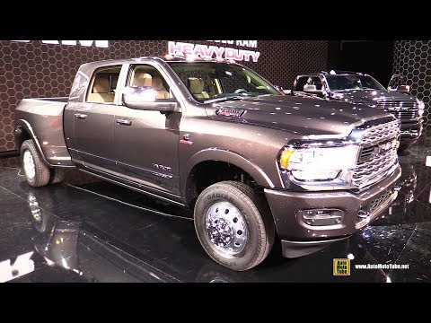 2020 Ram 3500 Heavy Duty Limited - Exterior Interior Walkaround - Debut at Detroit Auto Show 2019