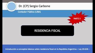 RESIDENCIA FISCAL IMPUESTO A LAS GANANCIAS   PERDIDA RESIDENCIA FISCAL   RESIDENCIA MIGRATORIA
