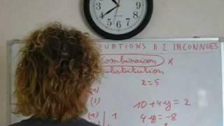 systeme de 2 equations à 2 inconnues