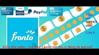 Hướng dẫn cách kiếm tiền từ ứng dụng Fronto Lock Srceen - Kiếm tiền trên điện thoại - Sơn Blog