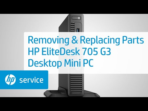 Service Teardown: HP EliteDesk 705 G3 Desktop Mini PC | HP Computer Service | HP