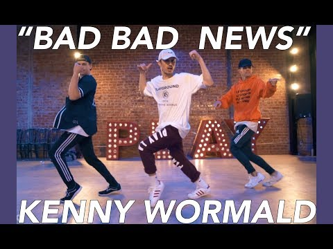 "Kenny Wormald Choreography - ""BAD BAD NEWS"" Leon Bridges - Dance Class Video at Playground LA"