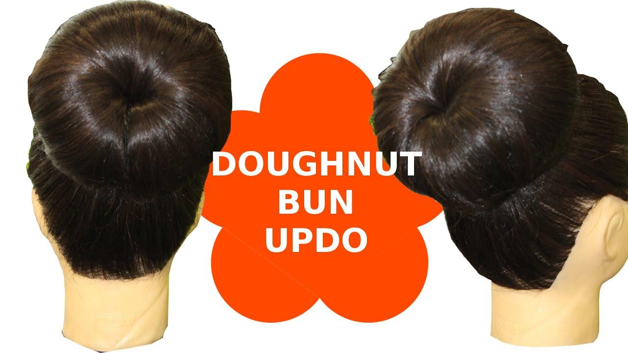 Hair Style Three Minute Doughnut Donut Bun Updo Youtube