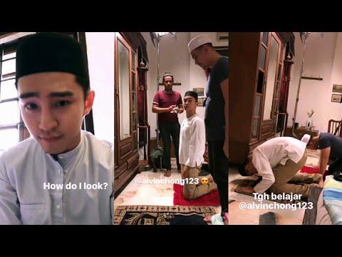 Alvin Chong belajar solat untuk shooting drama Awak Suka Saya Tak, Emma Maembong bagi sokongan moral