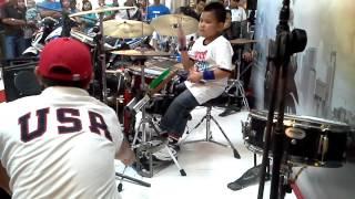 Kenan Arya H Drummer Cilik Indonesia Cover Cinta Gila Netral