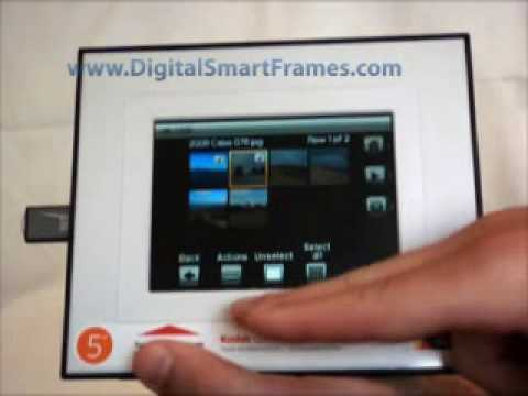 Transferring Pictures Using Your Digital Photo Frame - YouTube