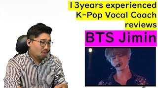 13yrs experienced K-pop Vocal Coach reacts to BTS Jimin - Lie
