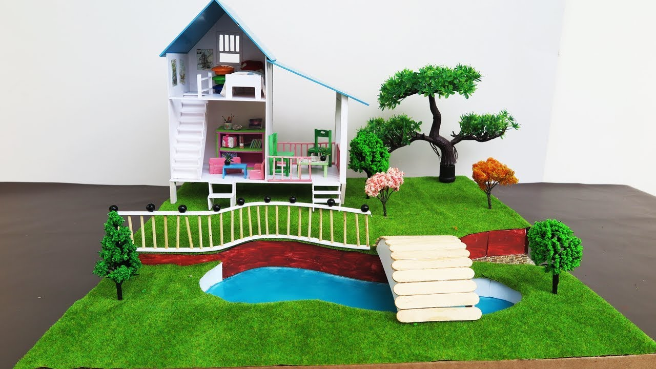 DIY Miniature Doll House With Beautiful Fairy Garden - Crafts For ...