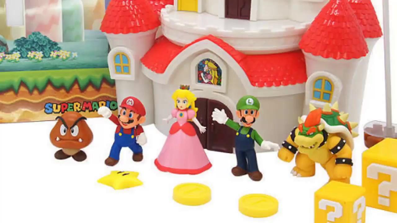 super mario mushroom kingdom castle playset