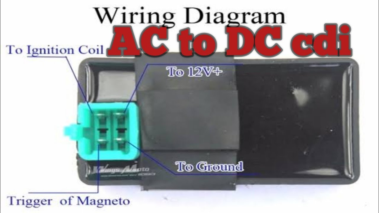 hight resolution of ac to dc cdi convertion battery operated cdi