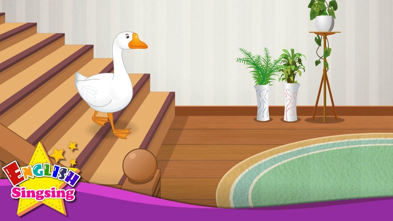 Goosey Goosey Gander - English Nursery Rhyme - Children's song with lyrics - English music For