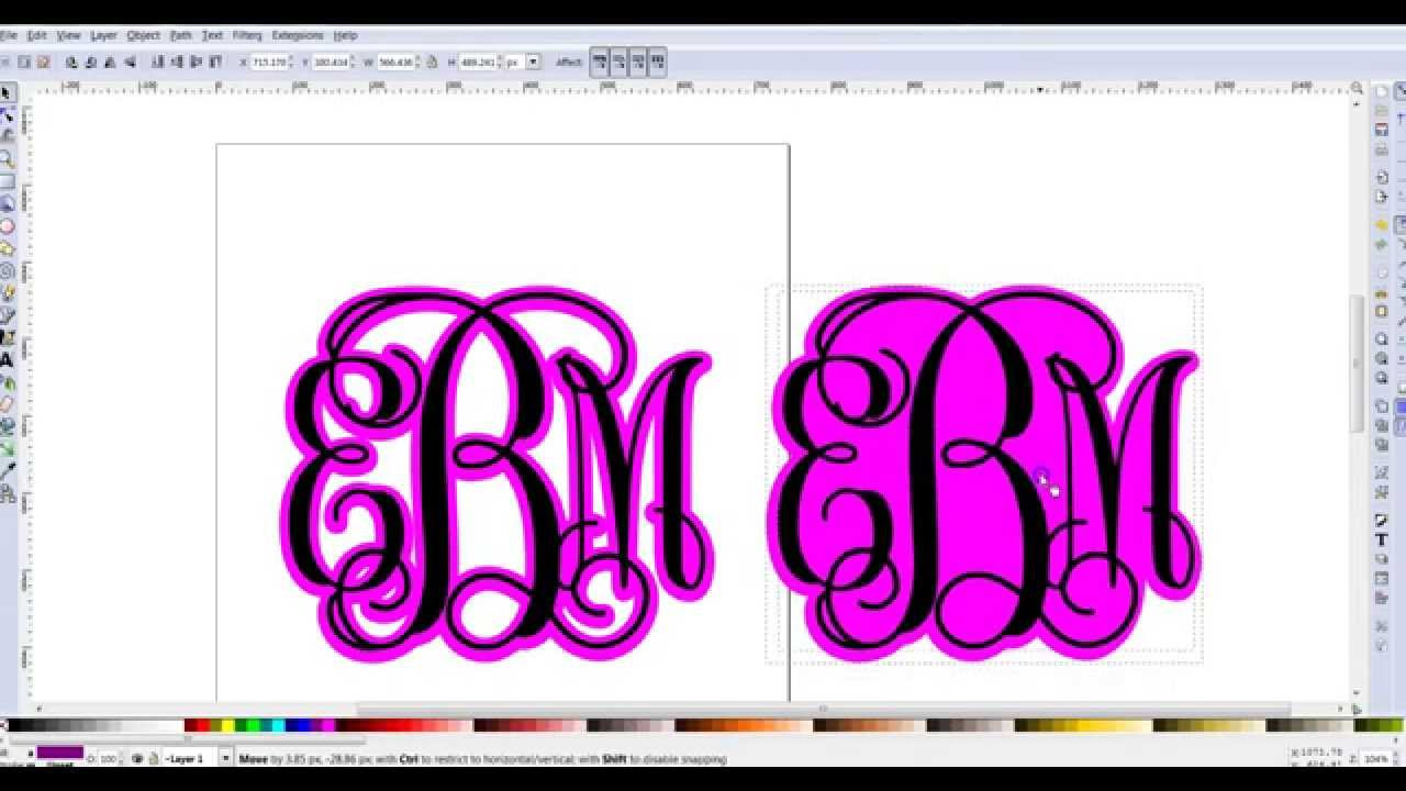 Creating a shadow layer for monograms in inkscape youtube for How do you make a blueprint