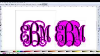 Creating a shadow layer for monograms in Inkscape