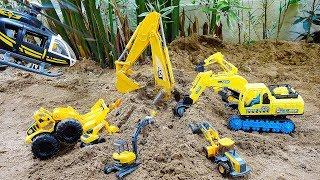 포크레인 구출놀이 중장비 자동차 장난감 트럭 모래놀이 Excavator Rescue Car Toy Play
