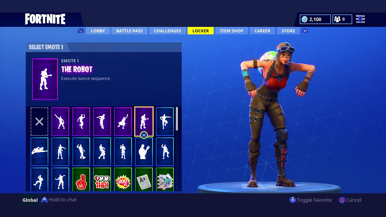 Showing off my NEW Account! RENEGADE RAIDER, RARE EMOTES ...