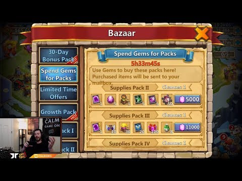 JT's F2P Hero Collector + Talking Bazaar For GEMS For SKINS Castle Clash