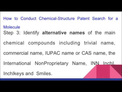 Chemical Structure Patent Searching Tips for Scientists & Chemist on Patent Databases