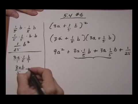 Square A Binomial Containing Fractions Youtube