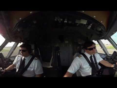 360° cockpit view | LUFTHANSA CARGO MD-11 F | Milan – Frankfurt