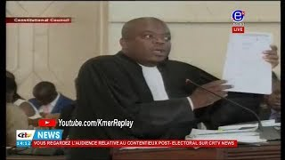AUDIENCE RELATIVE AU CONTENTIEUX POST-ELECTORAL: Maître NGOUANA Mustapha (SDF) à la barre