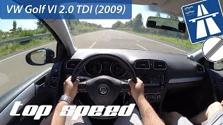 VW Golf 6 2.0 TDI (2009) on German Autobahn - POV Top Speed Drive