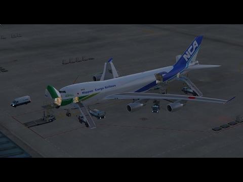 [P3D]PMDG 747-400 V3 Nippon Cargo Airlines  日本貨物航空  關西飛往成田