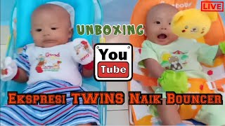 Toys Review - Unboxing Bouncer Sugar Baby - Twins Boys Alvan Alvin