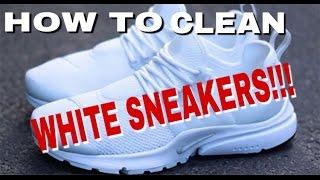 to Clean White Sneakers (Nike Prestos