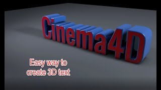 Cinema 4D Easy way to create 3D text
